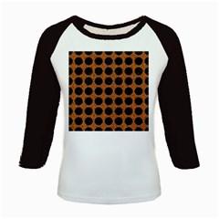 Circles1 Black Marble & Rusted Metal Kids Baseball Jerseys by trendistuff