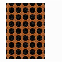 Circles1 Black Marble & Rusted Metal Small Garden Flag (two Sides) by trendistuff