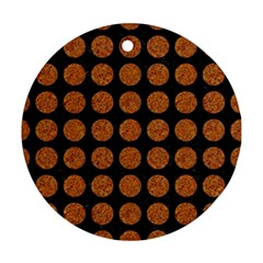 Circles1 Black Marble & Rusted Metal (r) Round Ornament (two Sides) by trendistuff