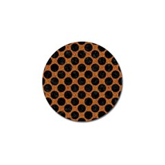 Circles2 Black Marble & Rusted Metal Golf Ball Marker (10 Pack) by trendistuff
