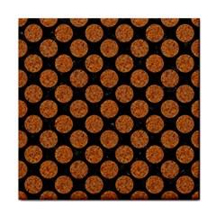 Circles2 Black Marble & Rusted Metal (r) Tile Coasters by trendistuff