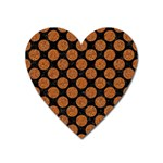 CIRCLES2 BLACK MARBLE & RUSTED METAL (R) Heart Magnet