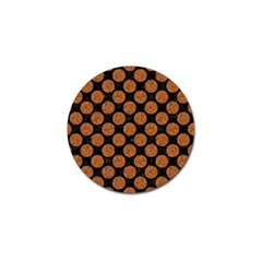 Circles2 Black Marble & Rusted Metal (r) Golf Ball Marker by trendistuff