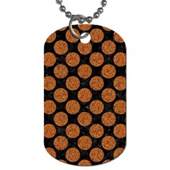 Circles2 Black Marble & Rusted Metal (r) Dog Tag (two Sides) by trendistuff