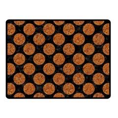 Circles2 Black Marble & Rusted Metal (r) Fleece Blanket (small) by trendistuff