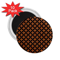 Circles3 Black Marble & Rusted Metal 2 25  Magnets (10 Pack)  by trendistuff