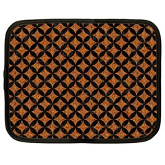 Circles3 Black Marble & Rusted Metal Netbook Case (xxl)  by trendistuff
