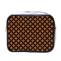 Circles3 Black Marble & Rusted Metal Mini Toiletries Bags by trendistuff