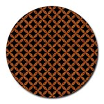 CIRCLES3 BLACK MARBLE & RUSTED METAL (R) Round Mousepads
