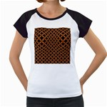 CIRCLES3 BLACK MARBLE & RUSTED METAL (R) Women s Cap Sleeve T