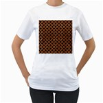 CIRCLES3 BLACK MARBLE & RUSTED METAL (R) Women s T-Shirt (White) (Two Sided)