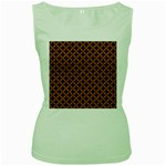 CIRCLES3 BLACK MARBLE & RUSTED METAL (R) Women s Green Tank Top