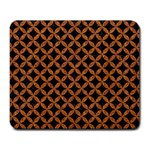 CIRCLES3 BLACK MARBLE & RUSTED METAL (R) Large Mousepads
