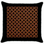CIRCLES3 BLACK MARBLE & RUSTED METAL (R) Throw Pillow Case (Black)
