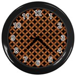 CIRCLES3 BLACK MARBLE & RUSTED METAL (R) Wall Clocks (Black)