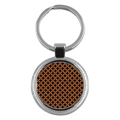 Circles3 Black Marble & Rusted Metal (r) Key Chains (round)  by trendistuff