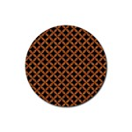 CIRCLES3 BLACK MARBLE & RUSTED METAL (R) Rubber Round Coaster (4 pack)