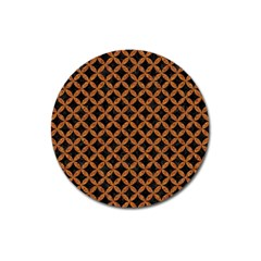 Circles3 Black Marble & Rusted Metal (r) Magnet 3  (round) by trendistuff