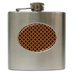 CIRCLES3 BLACK MARBLE & RUSTED METAL (R) Hip Flask (6 oz)