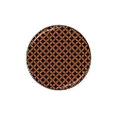 Circles3 Black Marble & Rusted Metal (r) Hat Clip Ball Marker (4 Pack) by trendistuff