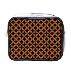 Circles3 Black Marble & Rusted Metal (r) Mini Toiletries Bags by trendistuff