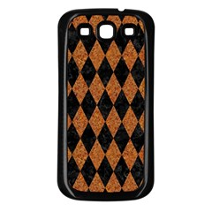 Diamond1 Black Marble & Rusted Metal Samsung Galaxy S3 Back Case (black) by trendistuff