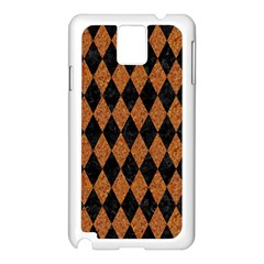 Diamond1 Black Marble & Rusted Metal Samsung Galaxy Note 3 N9005 Case (white) by trendistuff
