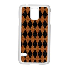 Diamond1 Black Marble & Rusted Metal Samsung Galaxy S5 Case (white) by trendistuff