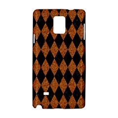 Diamond1 Black Marble & Rusted Metal Samsung Galaxy Note 4 Hardshell Case by trendistuff