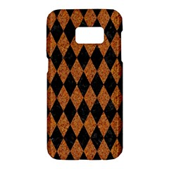 Diamond1 Black Marble & Rusted Metal Samsung Galaxy S7 Hardshell Case  by trendistuff