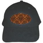 DAMASK1 BLACK MARBLE & RUSTED METAL Black Cap