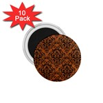 DAMASK1 BLACK MARBLE & RUSTED METAL 1.75  Magnets (10 pack)