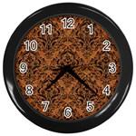 DAMASK1 BLACK MARBLE & RUSTED METAL Wall Clocks (Black)