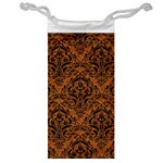 DAMASK1 BLACK MARBLE & RUSTED METAL Jewelry Bag