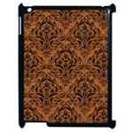DAMASK1 BLACK MARBLE & RUSTED METAL Apple iPad 2 Case (Black)