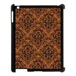 DAMASK1 BLACK MARBLE & RUSTED METAL Apple iPad 3/4 Case (Black)