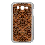 DAMASK1 BLACK MARBLE & RUSTED METAL Samsung Galaxy Grand DUOS I9082 Case (White)