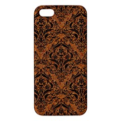 Damask1 Black Marble & Rusted Metal Iphone 5s/ Se Premium Hardshell Case by trendistuff