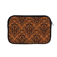 Damask1 Black Marble & Rusted Metal Apple Macbook Pro 13  Zipper Case by trendistuff