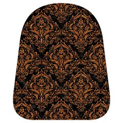 Damask1 Black Marble & Rusted Metal (r) School Bag (small) by trendistuff