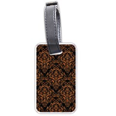 Damask1 Black Marble & Rusted Metal (r) Luggage Tags (one Side)  by trendistuff
