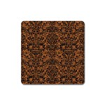 DAMASK2 BLACK MARBLE & RUSTED METAL Square Magnet