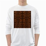 DAMASK2 BLACK MARBLE & RUSTED METAL White Long Sleeve T-Shirts