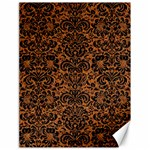 DAMASK2 BLACK MARBLE & RUSTED METAL Canvas 18  x 24