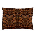 DAMASK2 BLACK MARBLE & RUSTED METAL Pillow Case