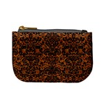 DAMASK2 BLACK MARBLE & RUSTED METAL Mini Coin Purses