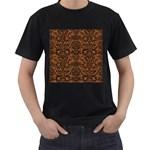 DAMASK2 BLACK MARBLE & RUSTED METAL Men s T-Shirt (Black)