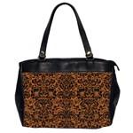 DAMASK2 BLACK MARBLE & RUSTED METAL Office Handbags (2 Sides)