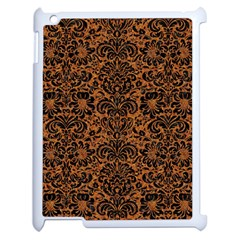 Damask2 Black Marble & Rusted Metal Apple Ipad 2 Case (white) by trendistuff