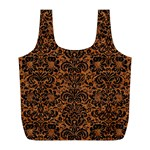 DAMASK2 BLACK MARBLE & RUSTED METAL Full Print Recycle Bags (L)